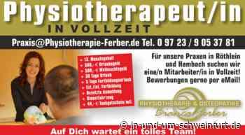 STELLENANGEBOT: Physiotherapeut*in (m/w/d) für Röthlein und Hambach gesucht – Lokale Nachrichten aus Stadt und Landkreis Schweinfurt - inUNDumSCHWEINFURT_DE