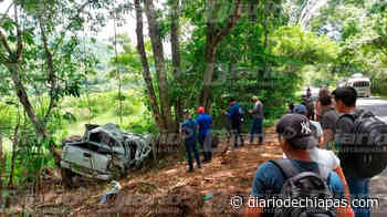 Destrozan camioneta en Palenque - Diario de Chiapas