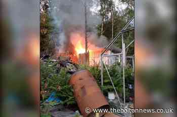 Shed in Bolton woodland near houses set on fire - The Bolton News