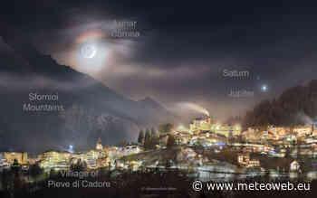 La Luna, la sua corona e Pieve di Cadore: la NASA premia la FOTO di Alessandra Masi - Meteo Web