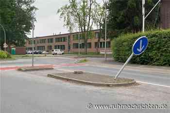 Dieses Verkehrsschild in Werne wird immer wieder umgefahren - Ruhr Nachrichten