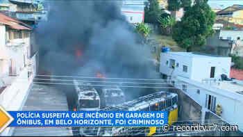 Incêndio em garagem deixa dez ônibus destruídos em Belo Horizonte - Record TV