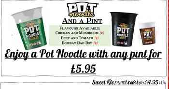People left in stitches as pub has special 'delicacy' that is just a Pot Noodle