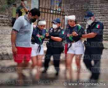 Turista cayó de la pirámide de Izamal: acabó en el hospital - MegaNews
