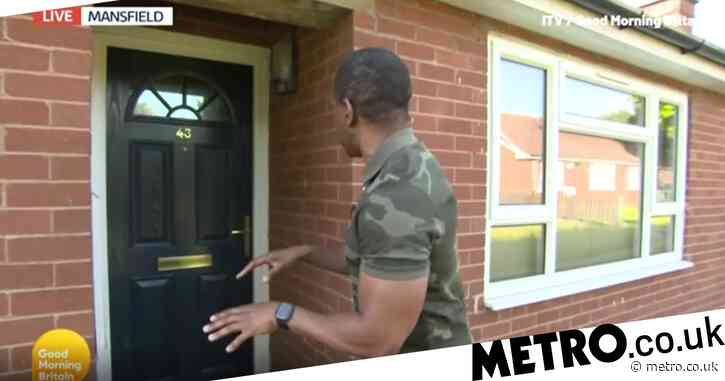 Andi Peters awkwardly has front door slammed in his face by competition winner on Good Morning Britain in awkward mishap