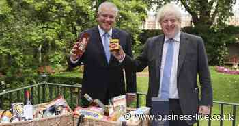 UK-Australia trade deal hamper supplied by South West food and drinks brands hoping to showcase products - Business Live