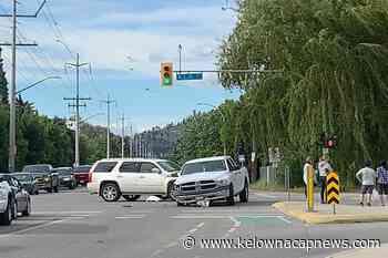 Collision slows rush hour traffic in Kelowna - Kelowna Capital News
