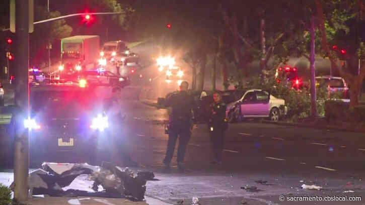 4 Hospitalized In 3-Car Crash In Elk Grove; Speeding Likely A Factor, Police Say