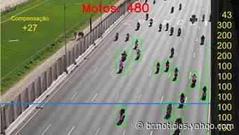 1 milhão? 12 mil? Contagem em canal do YouTube diz que 6 mil motos estiveram em motociata de Bolsonaro - Yahoo Noticias Brasil
