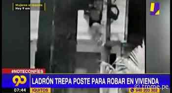 Iquitos: sujeto trepa poste para ingresar a robar en una vivienda - Diario Trome