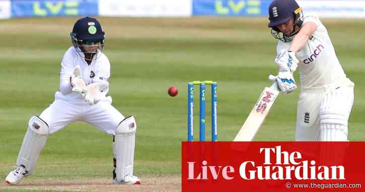 England v India: women's Test match, day one – live!