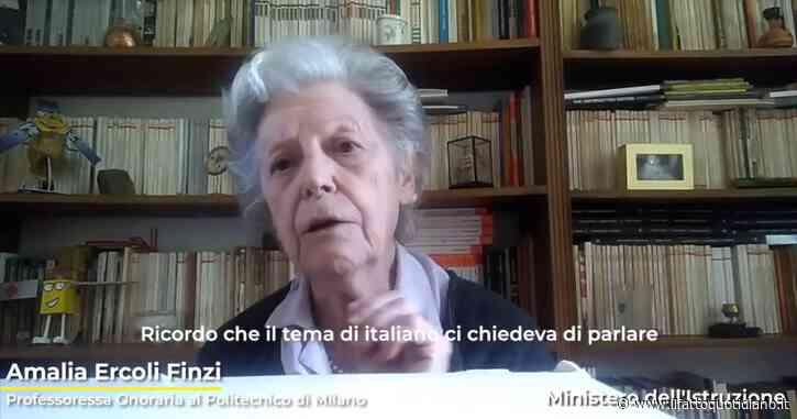 """Maturità, Amalia Ercoli Finzi ricorda il suo esame: """"Anche noi venivamo da periodo difficile"""". E alle ragazze: """"Non fatevi limitare dai pregiudizi"""""""