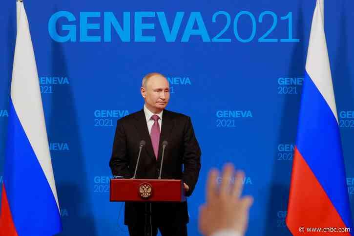 Watch live: Russian President Vladimir Putin speaks after meeting with Biden - CNBC