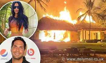Joe Francis' Mexican villa where Kim Kardashian enjoyed luxury vacations burns to the ground