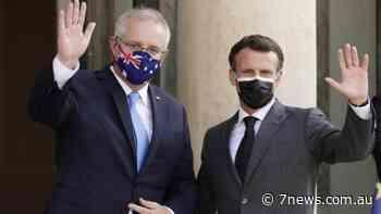 Morrison, Macron talk submarines in Paris - 7NEWS.com.au