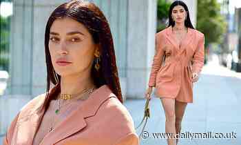 Nicole Williams puts on a head-turning display during a photoshoot in Beverly Hills