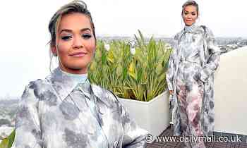Rita Ora looks effortlessly chic at star-studded Coin Cloud Cocktail Party hosted by Common in LA