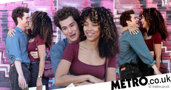 Andrew Garfield and Alexandra Shipp cuddle up for cosy Tick, Tick… BOOM reshoots in Brooklyn