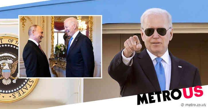 Joe Biden gifts Putin custom aviator sunglasses and a crystal American bison