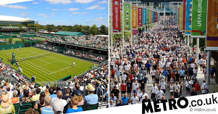 'Covid pass' available on phones in bid to raise capacity at Wimbledon and Euros