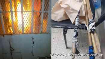 Barrio San Agustín: colchones en llamas y chuzas secuestradas en un módulo de detención - Aire de Santa Fe