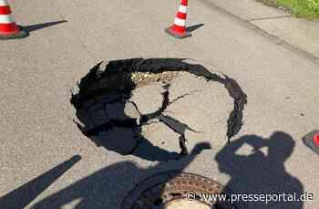 FW Stockach: Absperren von abgesackter Straße - Presseportal.de