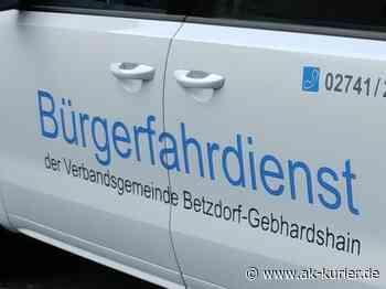 VG-Betzdorf-Gebhardshain: Bürgerfahrdienst bietet ab Juli wieder seine Dienste an - AK-Kurier - Internetzeitung für den Kreis Altenkirchen