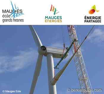 Les trois éoliennes citoyennes du parc Mauges Éole Grands Fresnes sont debout - PèreLaFouine