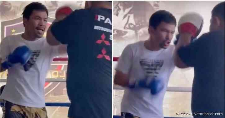 Manny Pacquiao vs Errol Spence Jr: Pac-Man looks dangerous in new training footage - GIVEMESPORT
