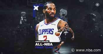 Kawhi Leonard and Paul George Named to All-NBA Teams