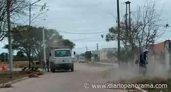 Municipales de San Pedro realizan tareas de mejoras a la vera de la ruta N°157 - Diario Panorama de Santiago del Estero