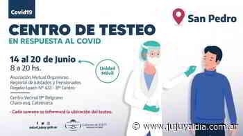 San Pedro: Los centros de testeo se ubican en distintos puntos cada semana - Jujuy al día