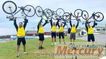 Norfolk Fellaton cyclists raise £43000 for charities - Great Yarmouth Mercury