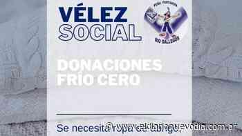 """La peña de Vélez Sarsfield en Río Gallegos impulsa la campaña """"Frío Cero"""" - El Diario Nuevo Dia"""