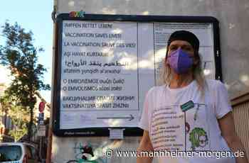Ludwigshafener wirbt mit mehrsprachigem Plakat im Hemshof für Corona-Impfung - Ludwigshafen - Nachrichten und Informationen - Mannheimer Morgen