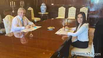 Alberto Fernández: Quién es la artista mendocina Florencia Aise que almorzó con el Presidente - A24.com