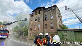 Feuerwehr kämpft gegen Großbrand in Wolgast - Nordkurier