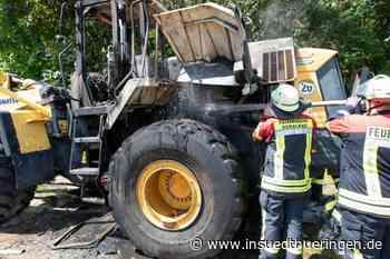 50.000 Euro Schaden - 20 Tonnen schwerer Radlader steht in Vollbrand - inSüdthüringen