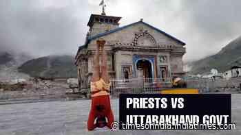 Watch: Kedarnath priest's unique protest against BJP govt in Uttarakhand