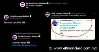 El PES celebra el matrimonio igualitario en Baja California... ¿Qué? ¿los 'hackearon'? - El Financiero