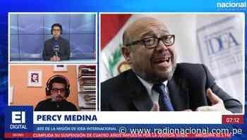"""Percy Medina: """"hay que esperar con calma los resultados y evitar hostigar a los funcionarios"""" - Radio Nacional del Perú"""