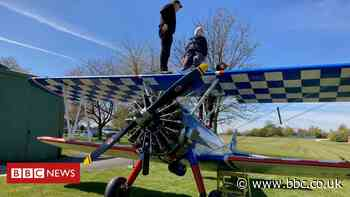 Nonagenarian great-grandmother takes on wing walk