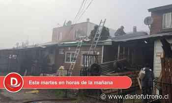 Incendio en Valdivia dejó como saldo un lesionado y 7 personas damnificadas - Diario Futrono