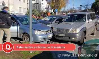 Valdivia: Reportan colisión triple en calle Haverbeck esquina Simpson - Diario Futrono