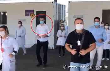 Prefeito de Gaspar dança 'Pisadinha' para incentivar vacinação contra Covid e vídeo gera reações | N - NSC Total