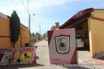 Privada Corregidora de San Miguel Contla cuenta con red de electrificación gracias a Sanabria Chávez - Linea de Contraste