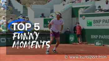 French Open tennis - Top 5: Funny moments featuring racket drops and Daniil Medvedev as a statue - Eurosport COM