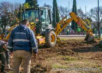 Mejoras en Plaza La Paz de Berazategui: Colocan luces led e instalan una estación aeróbica - Perspectiva Sur