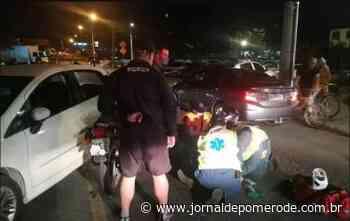Homem fica ferido em acidente no Centro de Timbó - Jornal de Pomerode