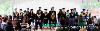 Whitehorse Daily Star: Dawson's school graduates 18 in the open air - Whitehorse Star